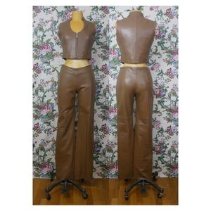 Rosleen Real Leather 70s vibe Vest and Pant